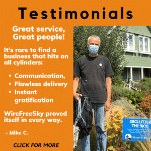 Testimonial & photo of Wire Free Sky Client - Click for more