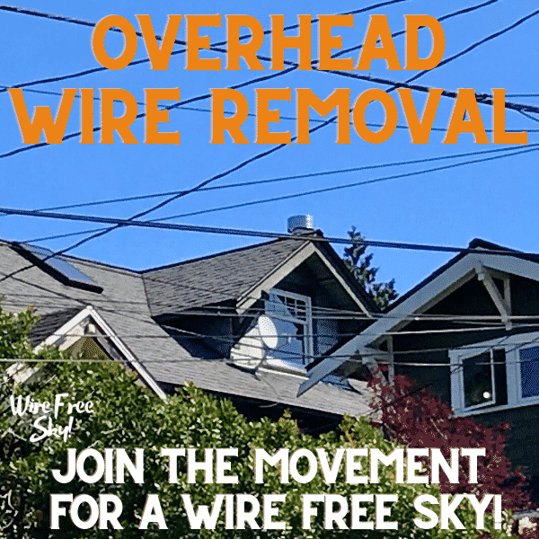 Click to pay for a overhead wire removal in Seattle